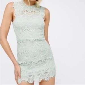 NWT Free People Mint Lace Dress Size L